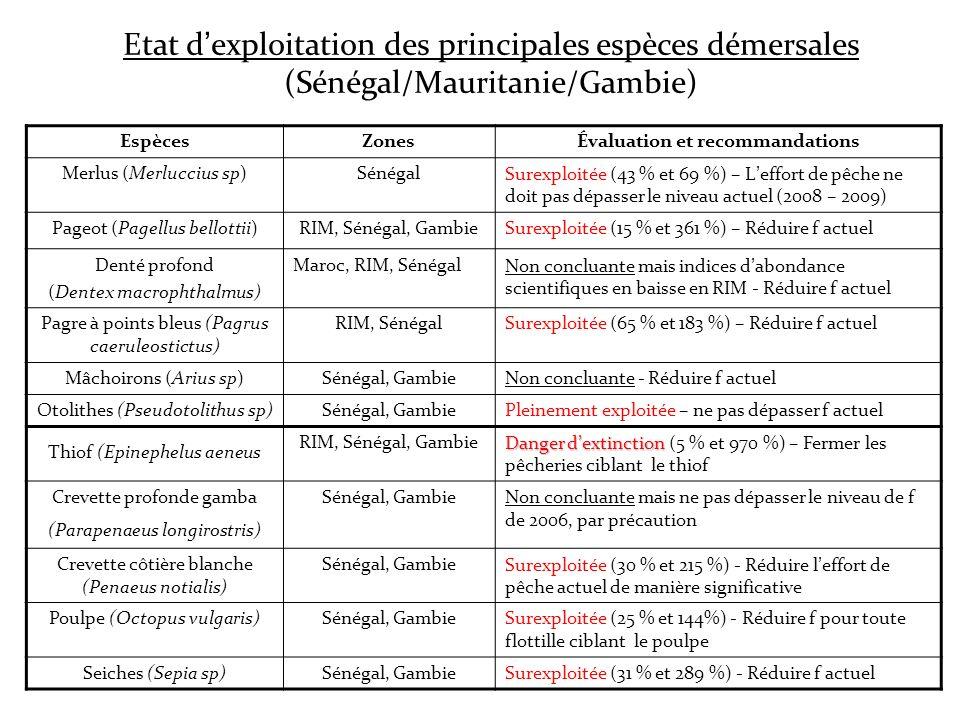 Évaluation et recommandations