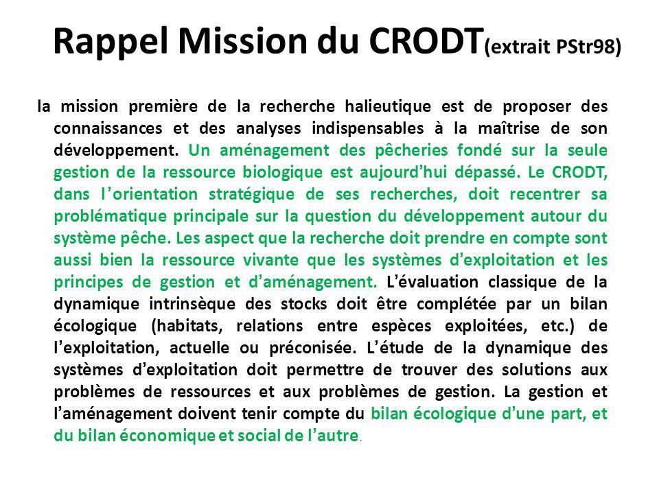 Rappel Mission du CRODT(extrait PStr98)