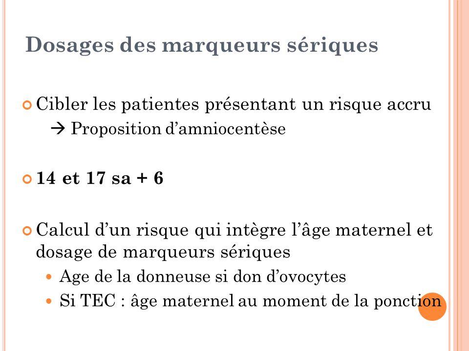 Dosages des marqueurs sériques