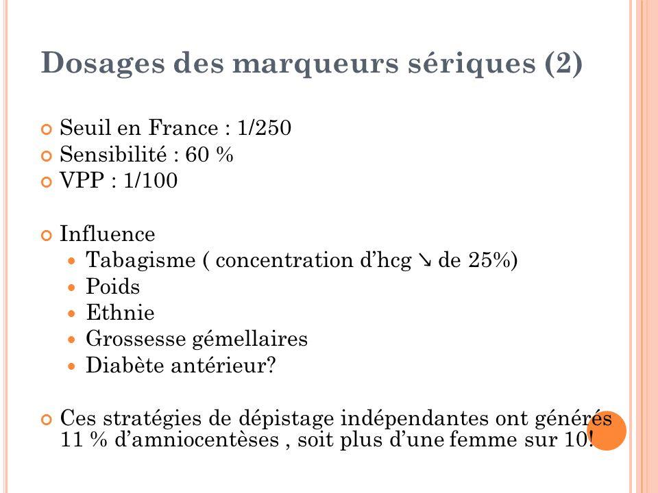 Dosages des marqueurs sériques (2)