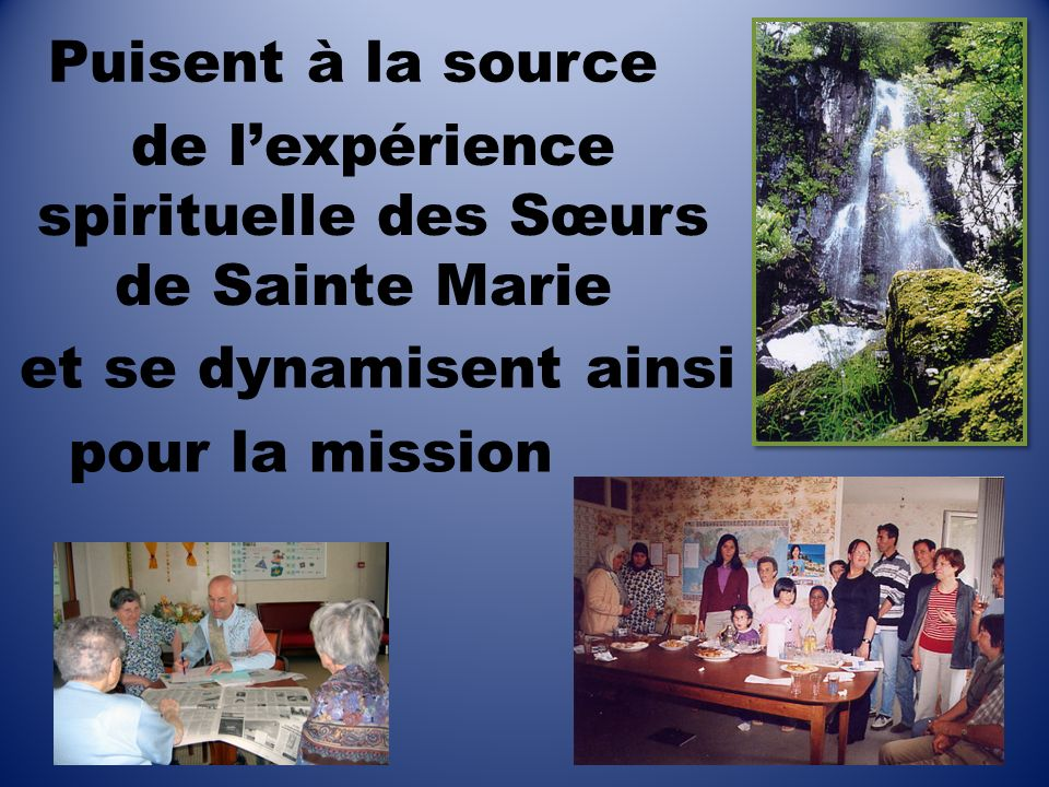 de l'expérience spirituelle des Sœurs de Sainte Marie