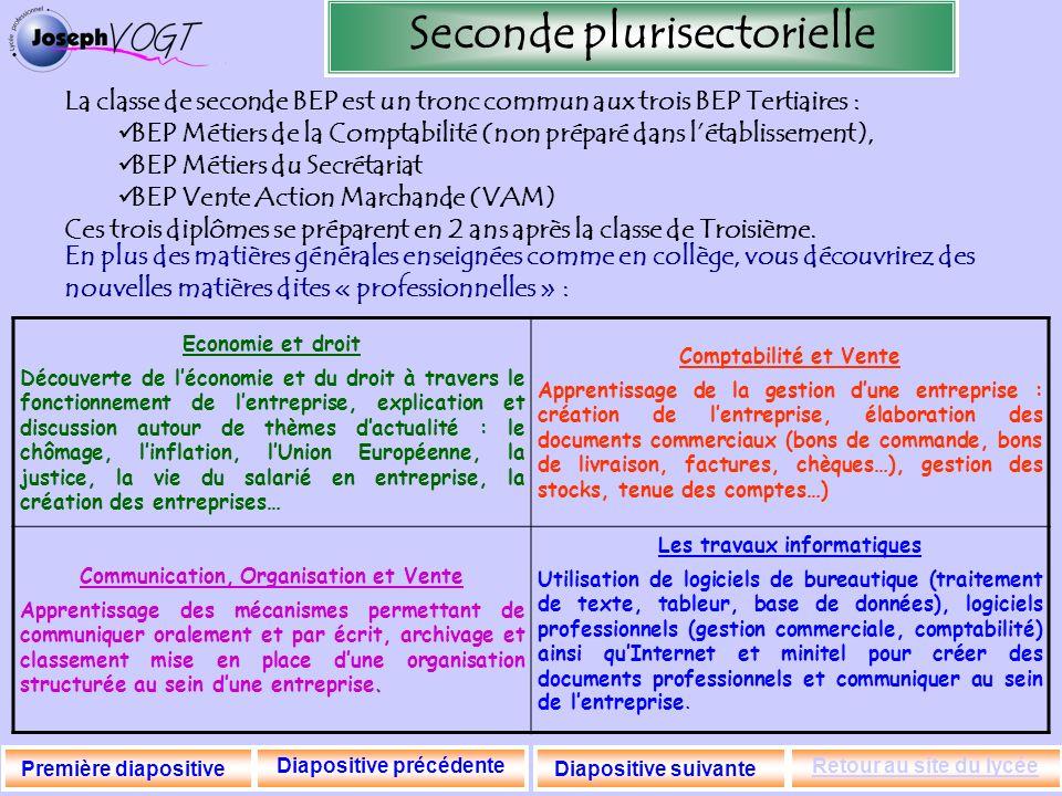 Seconde plurisectorielle