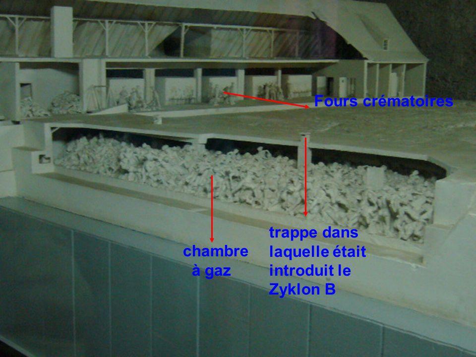 Fours crématoires trappe dans laquelle était introduit le Zyklon B chambre à gaz