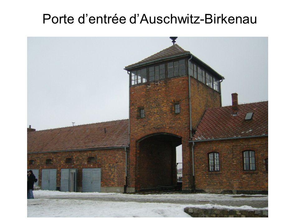 Porte d'entrée d'Auschwitz-Birkenau
