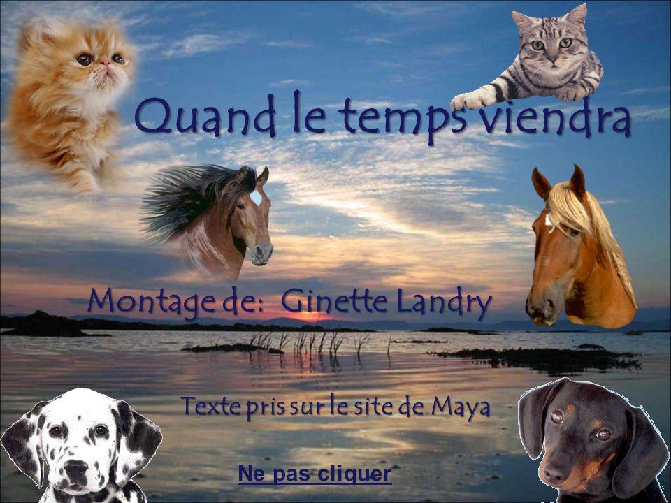 Quand le temps viendra Montage de: Ginette Landry