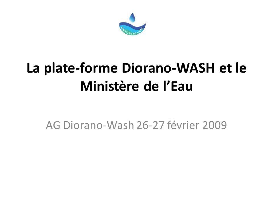 La plate-forme Diorano-WASH et le Ministère de l'Eau