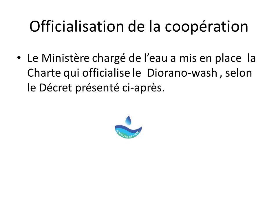Officialisation de la coopération