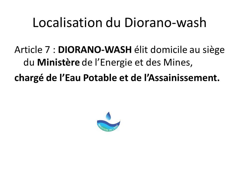 Localisation du Diorano-wash