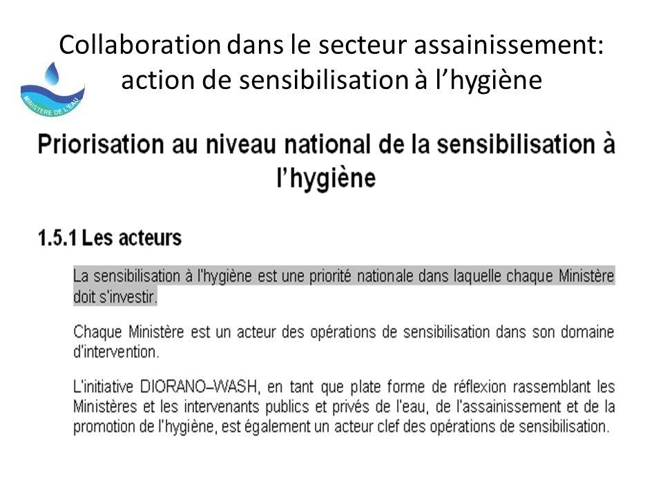 Collaboration dans le secteur assainissement: action de sensibilisation à l'hygiène
