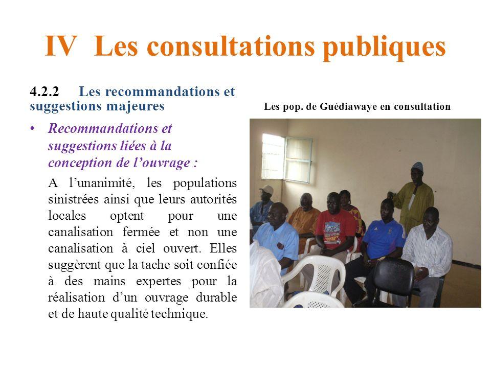 IV Les consultations publiques