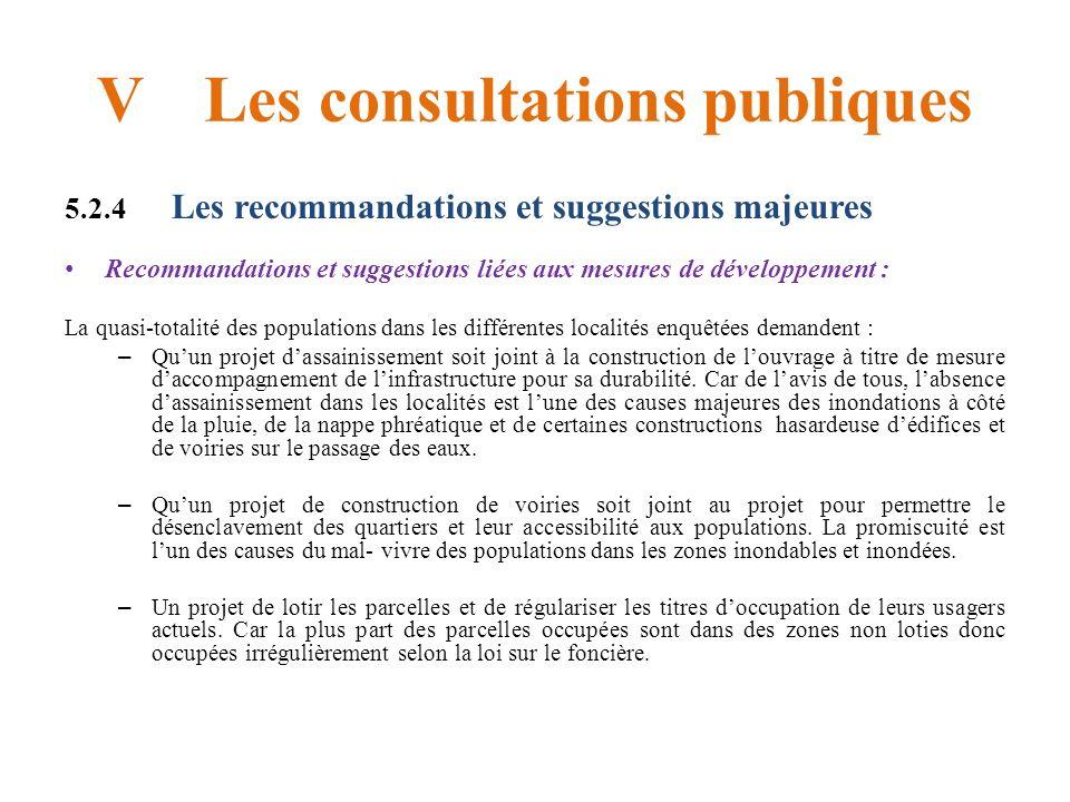 V Les consultations publiques