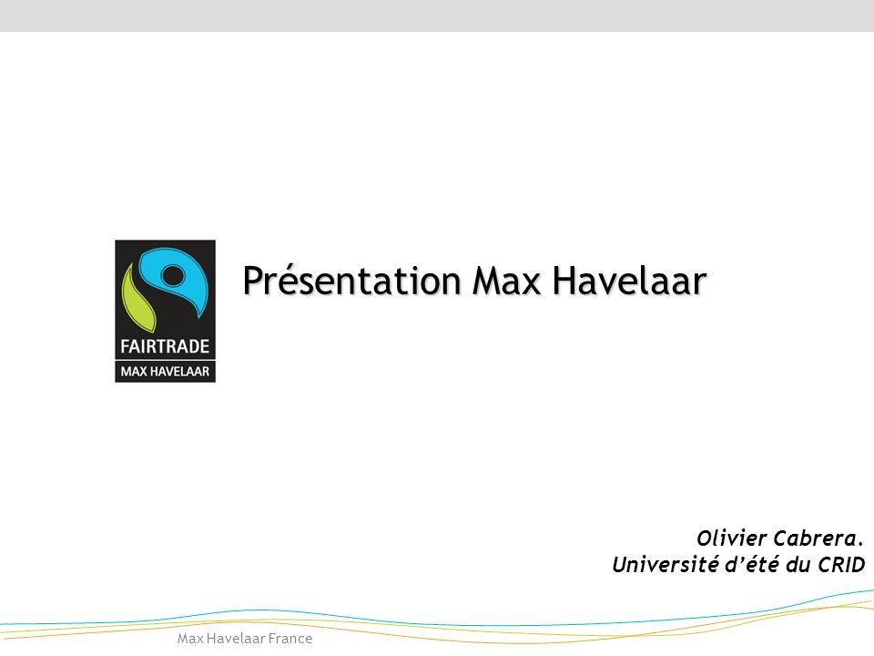 Fairtrade-Max Havelaar