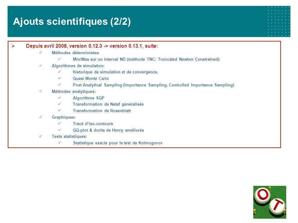 Ajouts scientifiques (2/2)