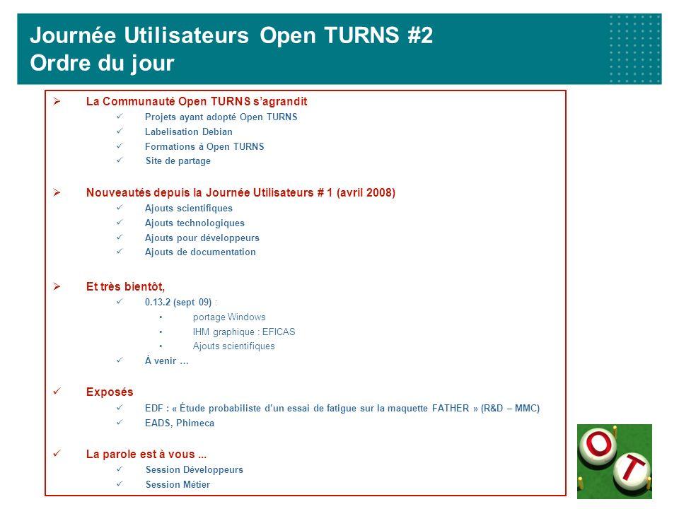 Journée Utilisateurs Open TURNS #2 Ordre du jour