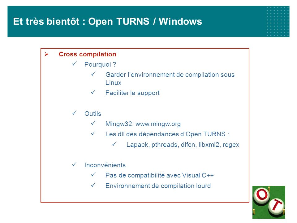 Et très bientôt : Open TURNS / Windows