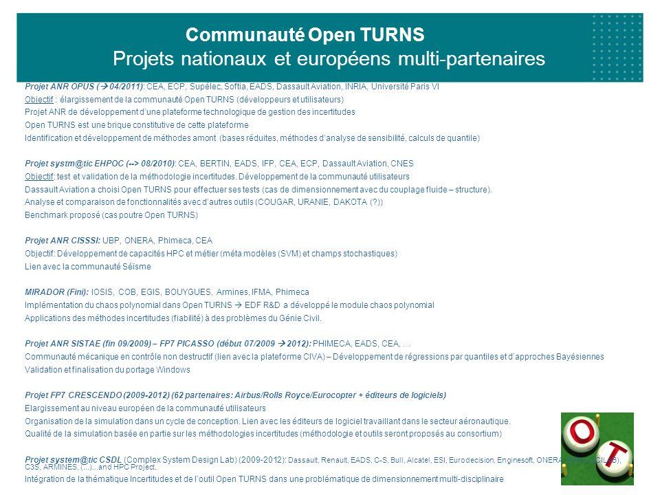 Communauté Open TURNS Projets nationaux et européens multi-partenaires