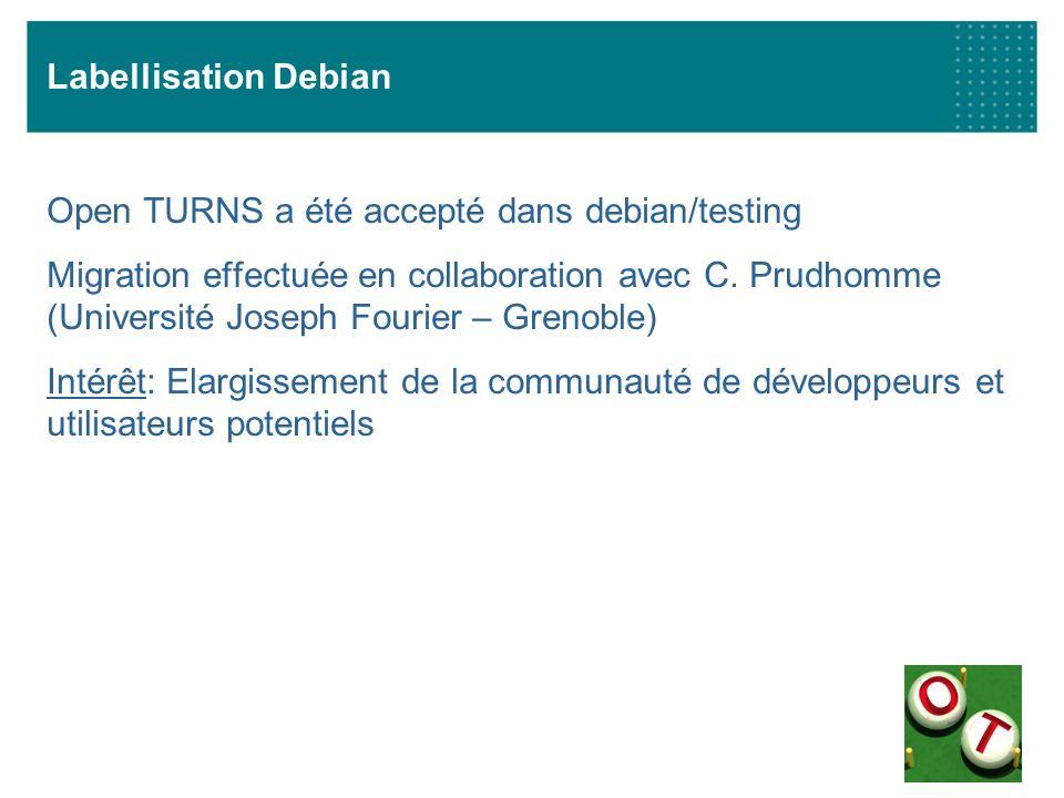 Labellisation Debian Open TURNS a été accepté dans debian/testing.
