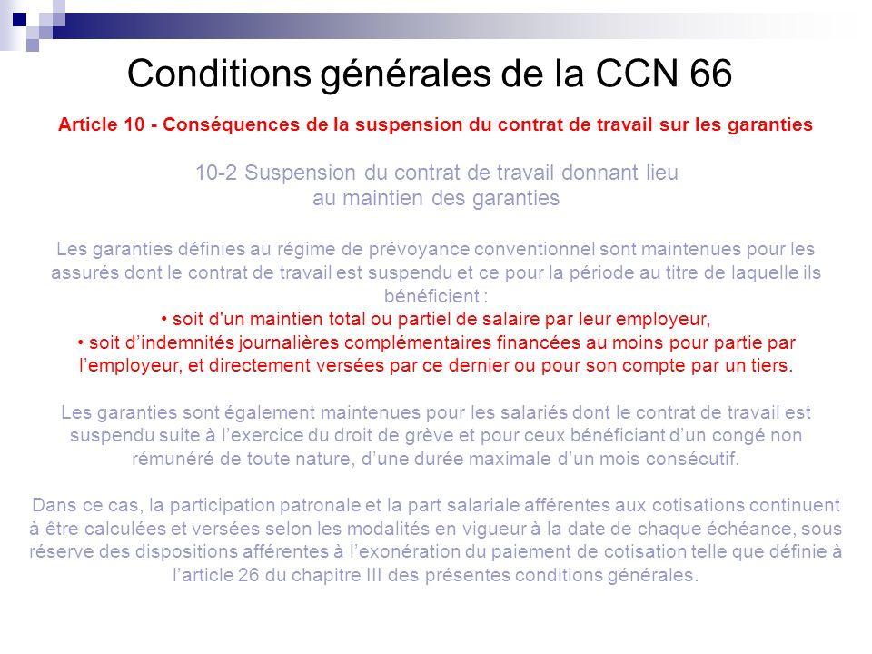 Conditions générales de la CCN 66