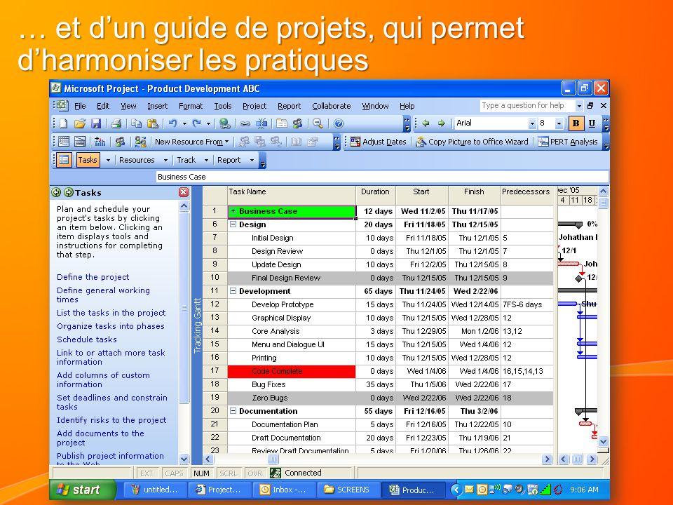 … et d'un guide de projets, qui permet d'harmoniser les pratiques