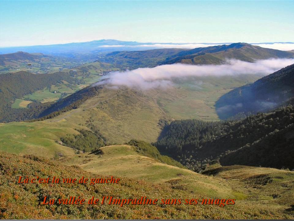 La vallée de l'Impradine sans ses nuages