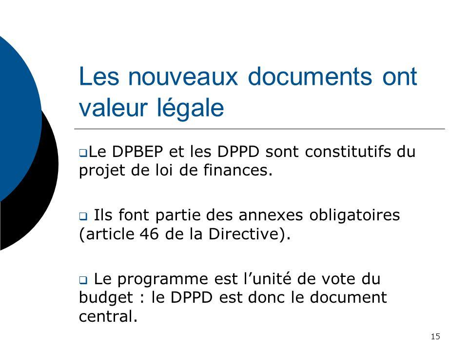Les nouveaux documents ont valeur légale