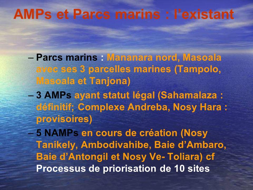 AMPs et Parcs marins : l'existant