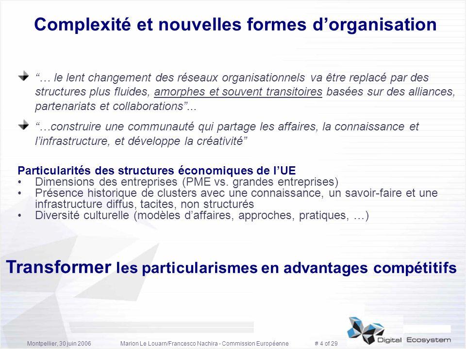 Complexité et nouvelles formes d'organisation