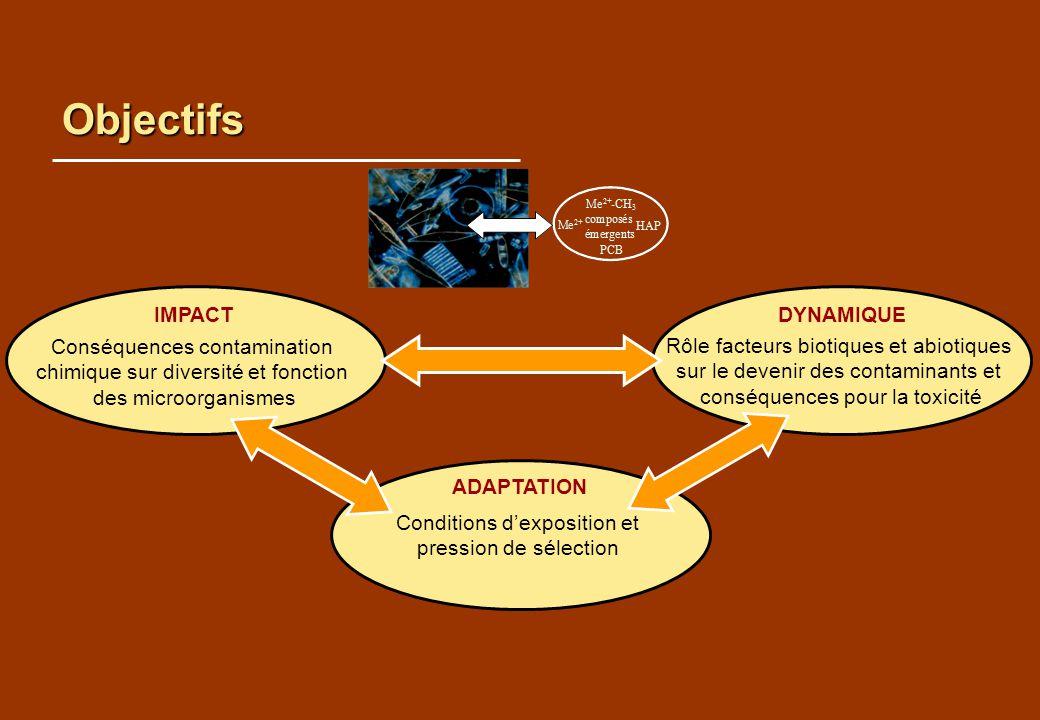 Objectifs IMPACT DYNAMIQUE Conséquences contamination