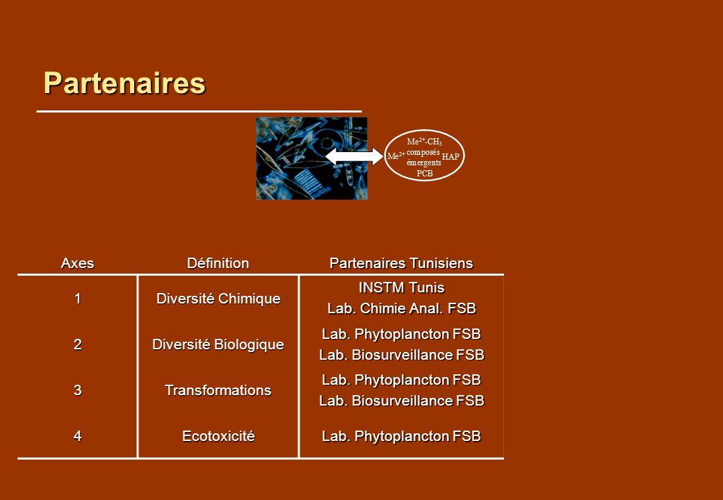 Partenaires Axes Définition Partenaires Tunisiens Partenaires Français