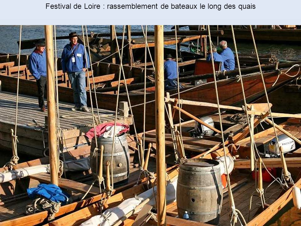 Festival de Loire : rassemblement de bateaux le long des quais