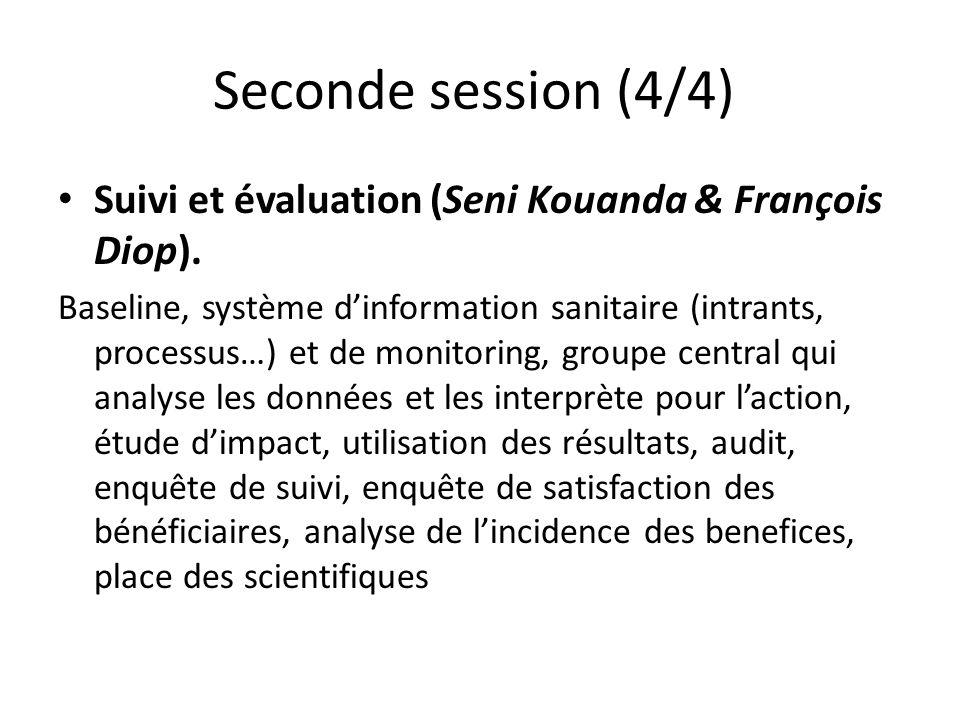 Seconde session (4/4) Suivi et évaluation (Seni Kouanda & François Diop).