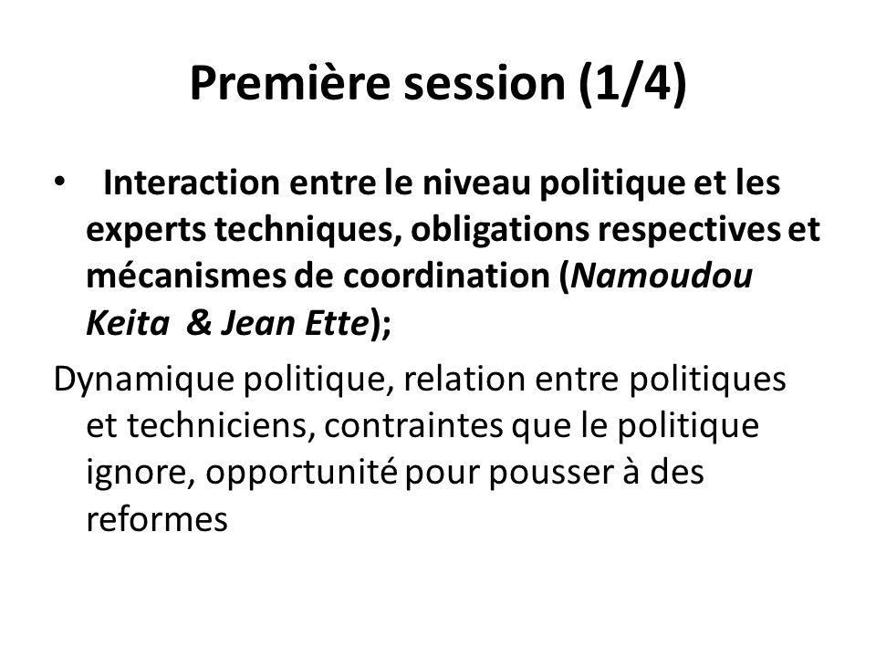 Première session (1/4)