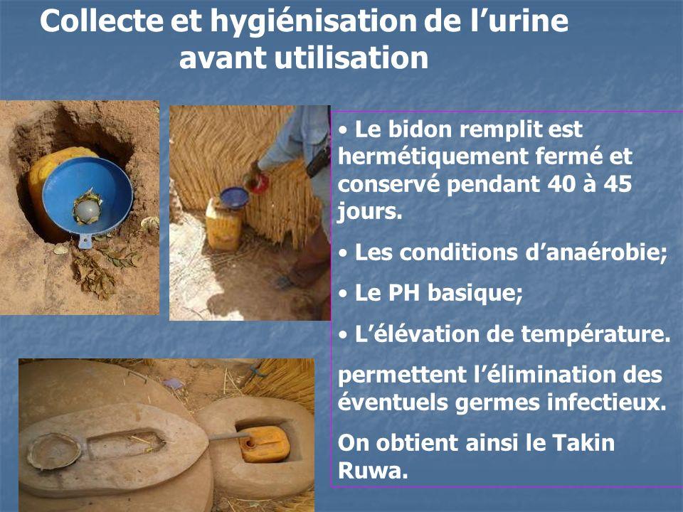 Collecte et hygiénisation de l'urine