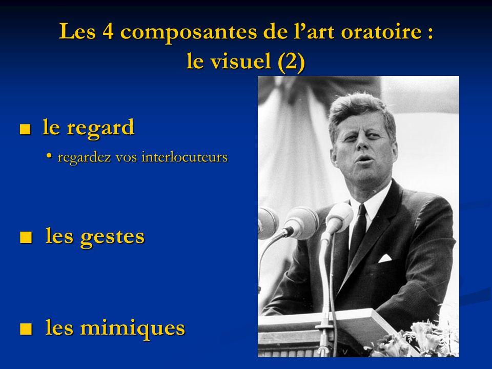 Les 4 composantes de l'art oratoire : le visuel (2)