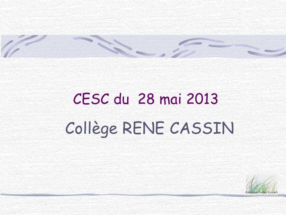CESC du 28 mai 2013 Collège RENE CASSIN