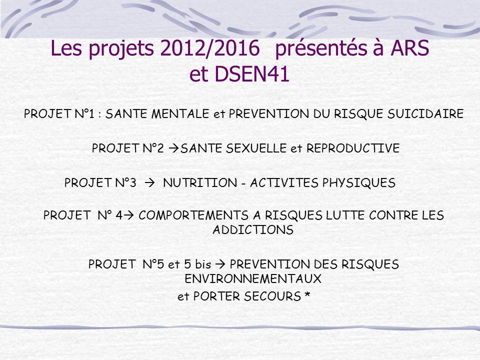 Les projets 2012/2016 présentés à ARS et DSEN41
