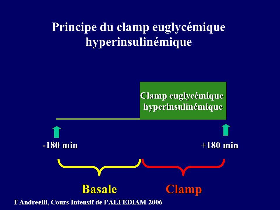 Principe du clamp euglycémique hyperinsulinémique