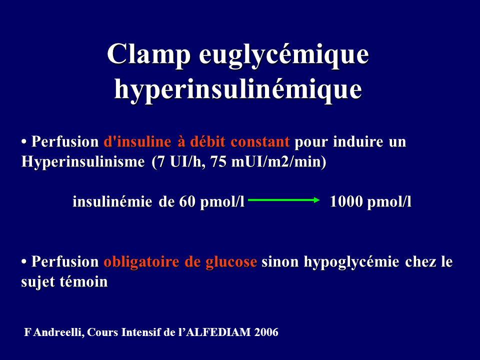 Clamp euglycémique hyperinsulinémique