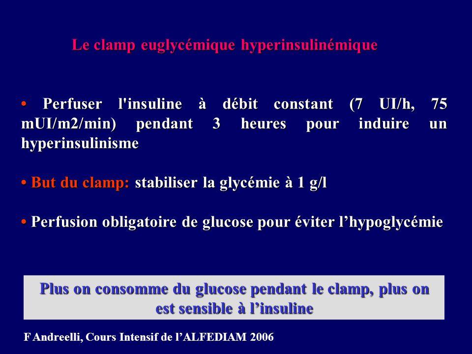 Le clamp euglycémique hyperinsulinémique