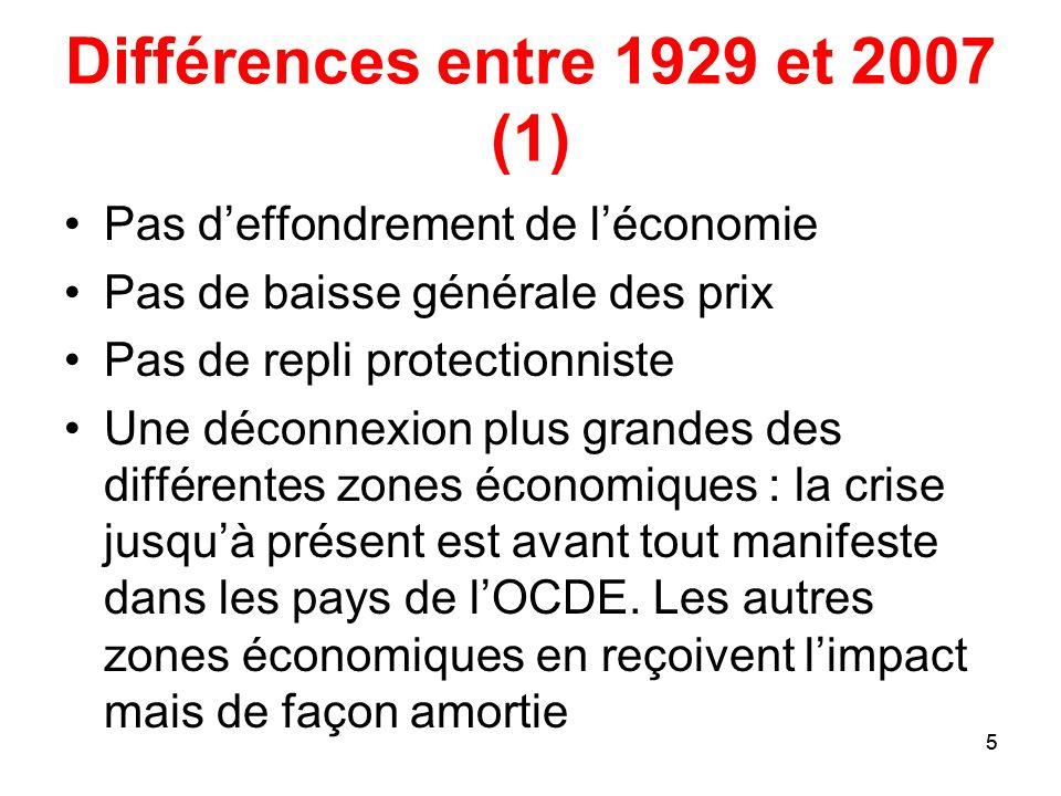 Différences entre 1929 et 2007 (1)