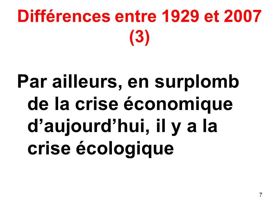 Différences entre 1929 et 2007 (3)