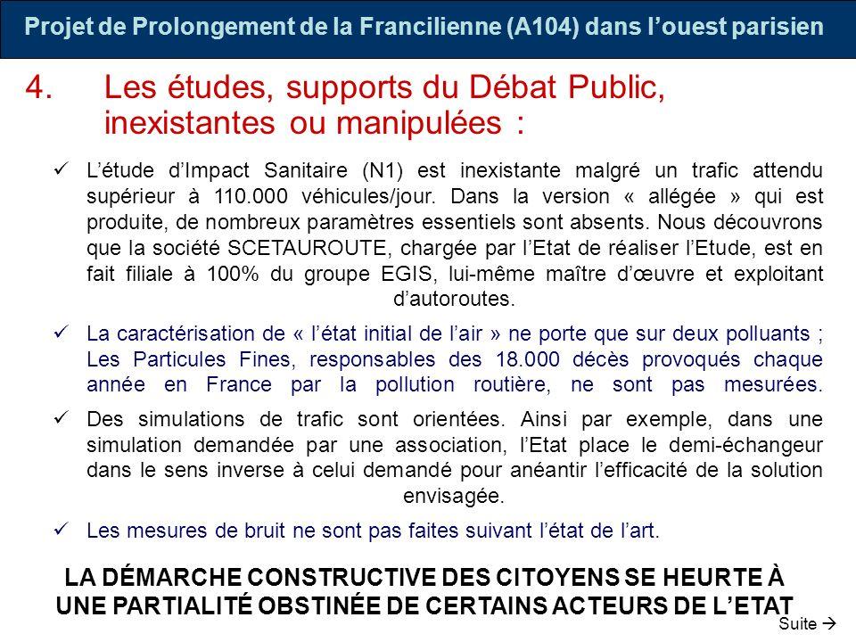 Projet de Prolongement de la Francilienne (A104) dans l'ouest parisien