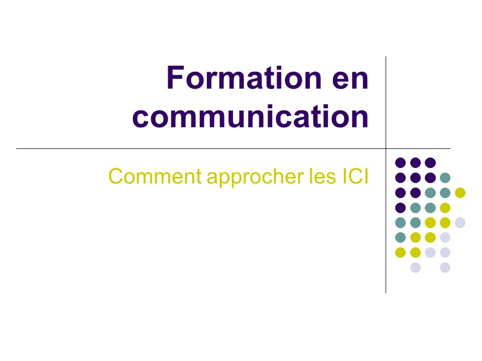 Formation en communication