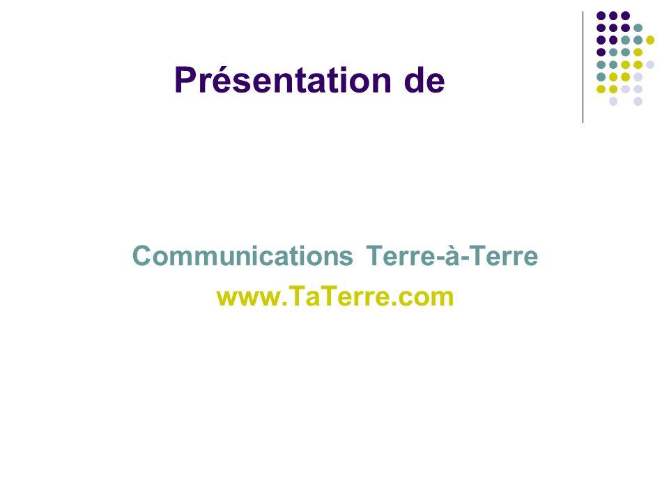 Communications Terre-à-Terre