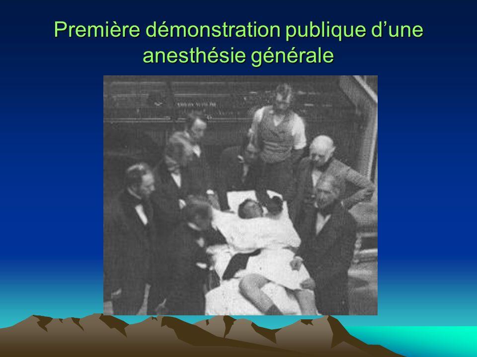 Première démonstration publique d'une anesthésie générale