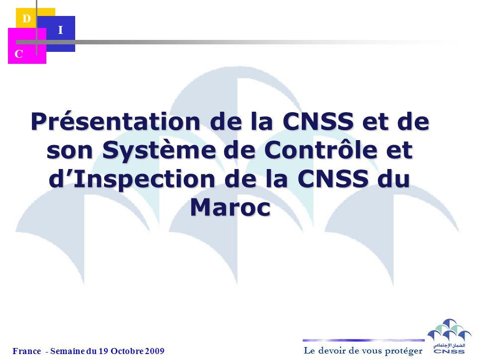Présentation de la CNSS et de son Système de Contrôle et d'Inspection de la CNSS du Maroc