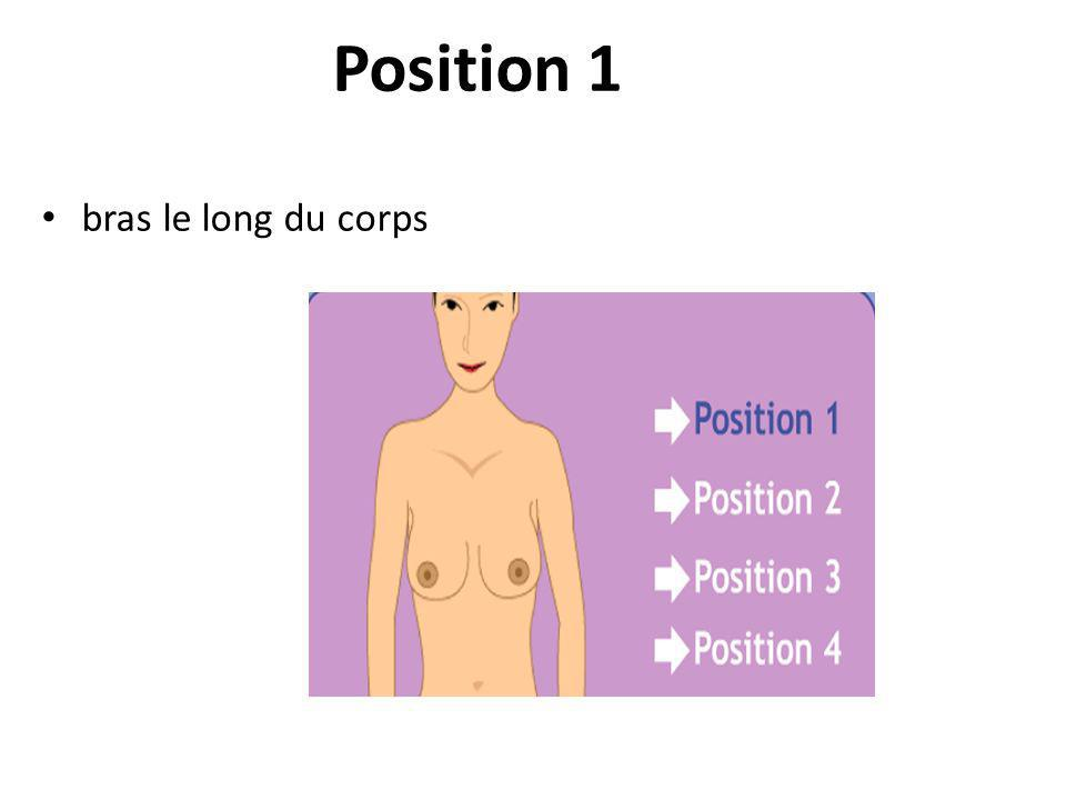 Position 1 bras le long du corps