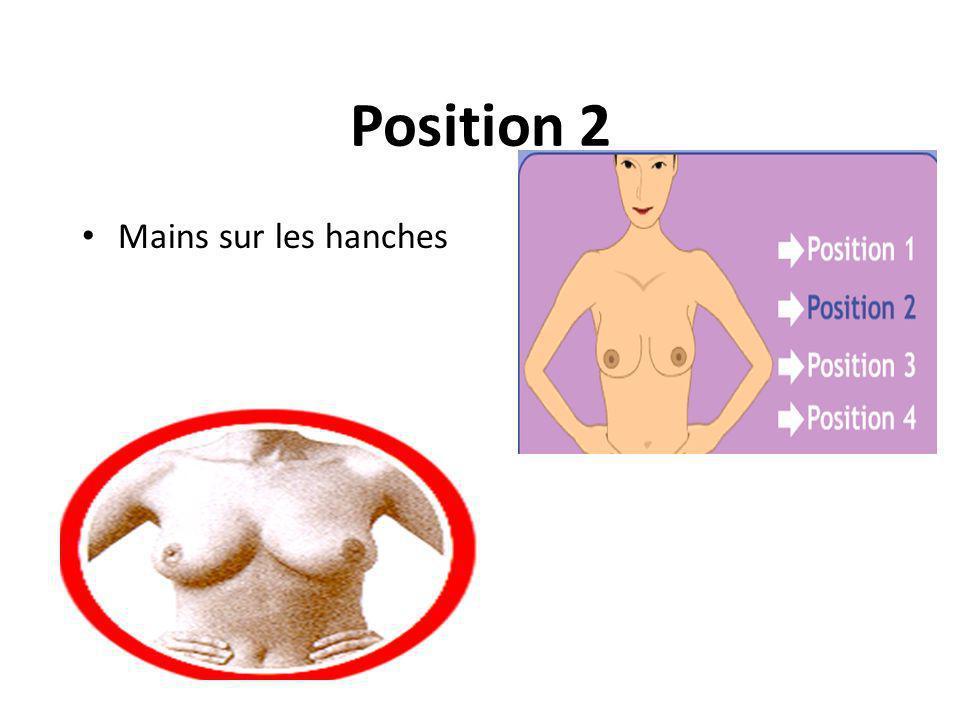 Position 2 Mains sur les hanches