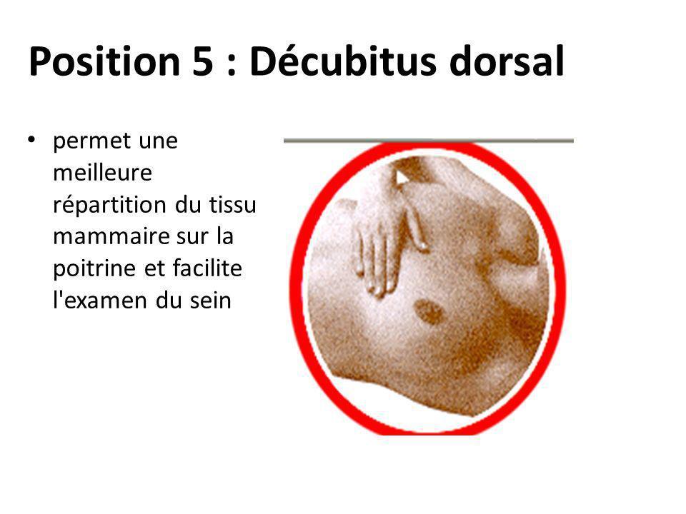 Position 5 : Décubitus dorsal
