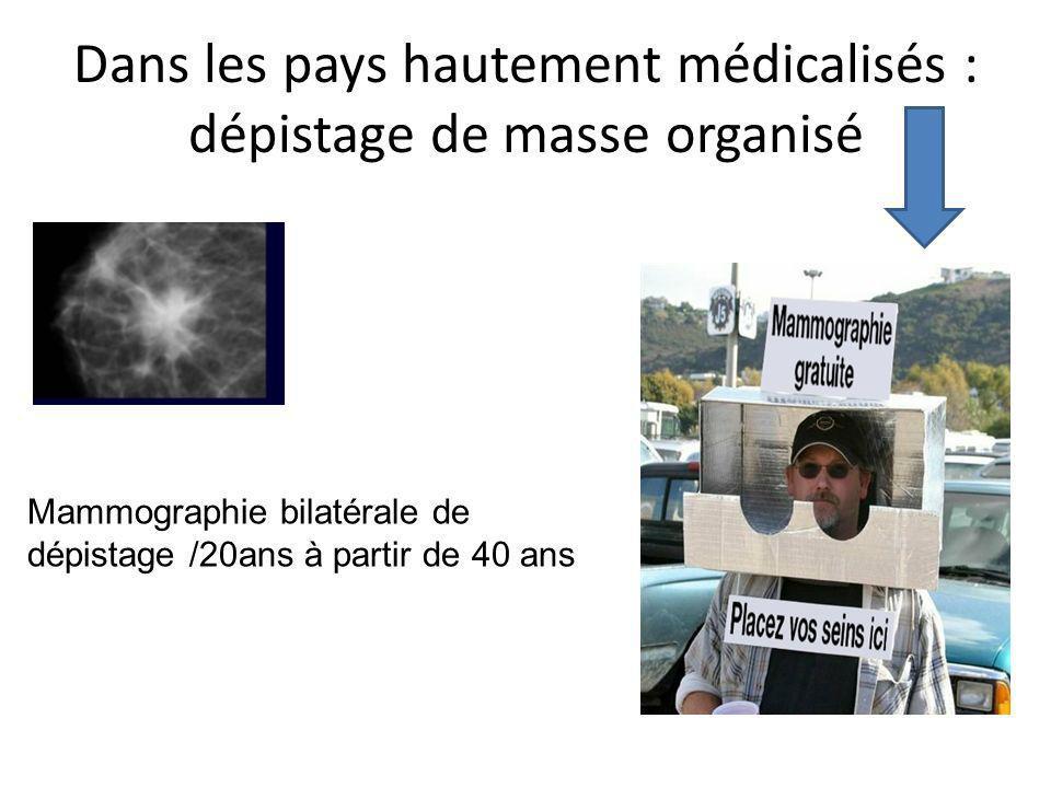 Dans les pays hautement médicalisés : dépistage de masse organisé